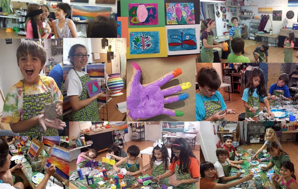 children at our summer art camps